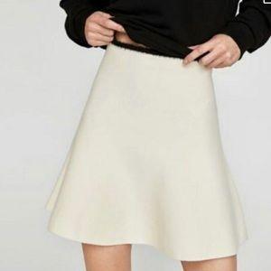 Zara Cream Knit Skirt NWT